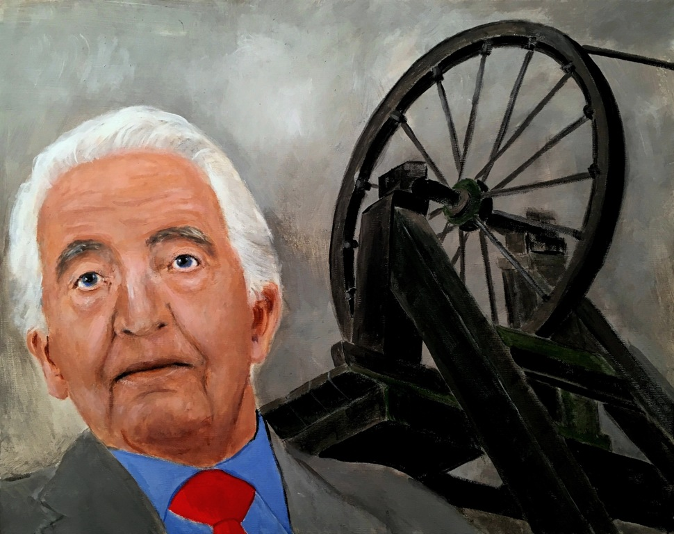 Portrait of Labour MP Dennis Skinner at Pleasley Pit