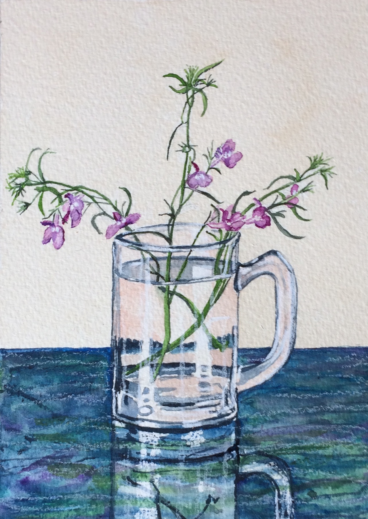 Lobelia in mini beer mug