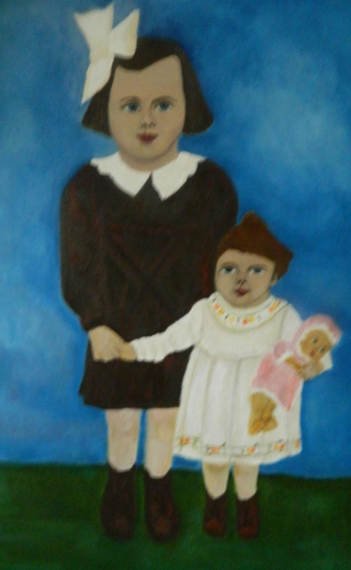 Buy art Sisters with Doll 2012